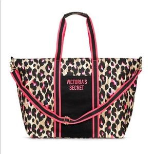 Victoria's Secret Leopard Weekender Large Bag